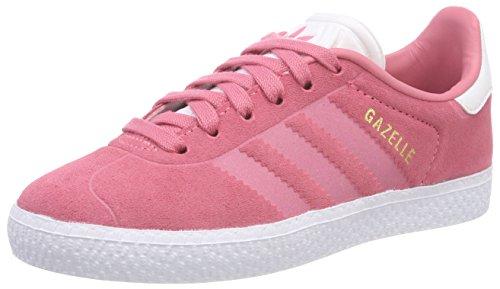 Adidas gazelle c, scarpe da fitness unisex-bambini, rosa (rostiz/rostiz/ftwbla 000), 28 eu