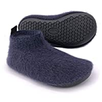 Dream Bridge Kids Mohair Slippers with Anti-Slip Sole for Boys Girls