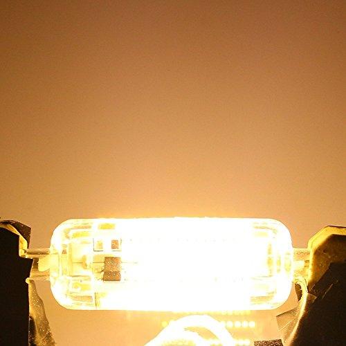 KJLARS R7S Glühbirne 6W 600LM LED lampe Mais-Birne Maislampe 108 x 3014 SMD Energieeinsparung Leuchtmittel Silikon-Material Warme Weiß - 3
