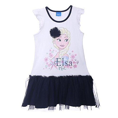 d Frozen Eiskönig Elsa und Anna 73669, Mehrfarbig (Weiß/Blau 776), 98 (Elsa Kleider Disney)