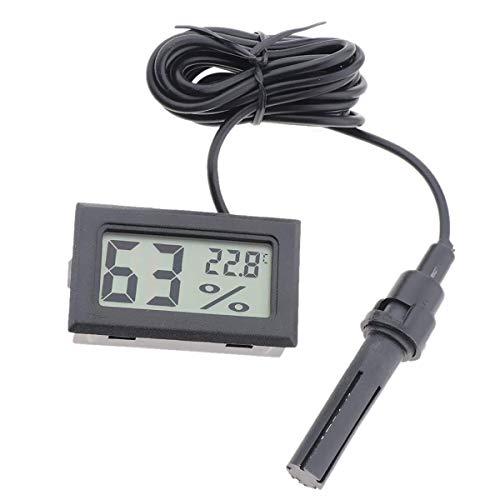 Inverno Winner LCD Digitale termometro igrometro Temperatura e umidità per terrario Tartaruga Serpente Lucertola - Nero