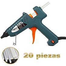 Pistola de Silicona Caliente WEINAS® Pistola de Pegamento Profesional Con 20pcs Barras de Pegamento para Manualidades (11mm*20cm)