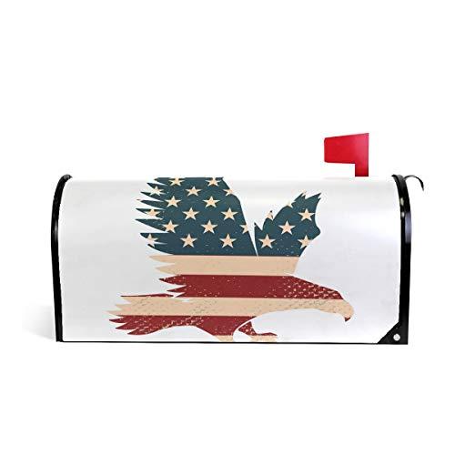 Doshine - copertura magnetica per cassetta delle lettere con uccelli, aquila, bandiera americana, grande, 65 x 53 cm, decorazione per la casa