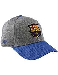 Gorra FC. Barcelona - Producto Oficial Licenciado - Grey - Talla Adulto ajustable
