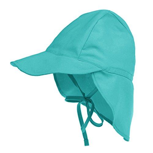 Atmungsative Baby Schirmmütze Strandhut Fischerhut mit Kinnriemen Sonnenschutz Kappe mit Nackenschutz UPF 50+ für Kleinkinder Jungen mädchen