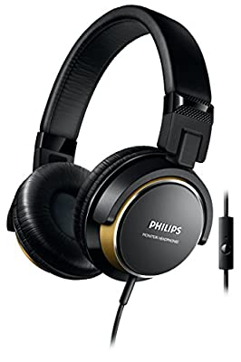 Phillips 265BG/00Headphones with Microphone (DJ Monitoring, 40mm Neodymium Drivers, Closed Acoustic System)