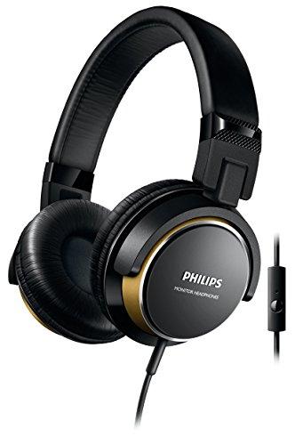 Philips shl3265bg/00 auricolare per telefono cellulare stereofonico padiglione auricolare nero, oro cablato