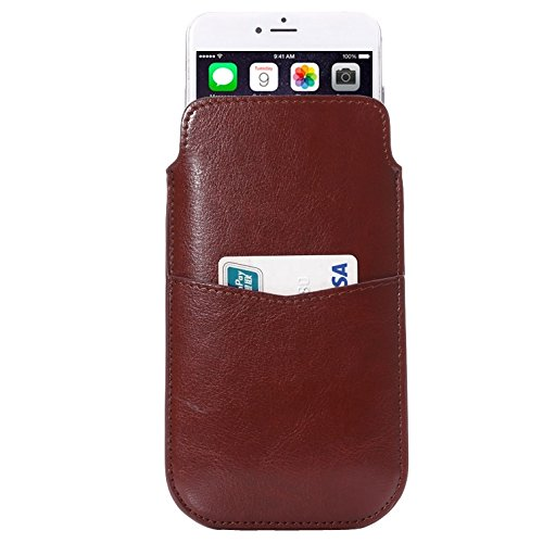 Phone case & Hülle Für iPhone 6 Plus / 6S Plus, Samsung Galaxy Note 5 / Hinweis 4 / Hinweis 3 Crazy Pferd Textur Leder Tasche Tasche Tasche Tasche Tasche mit Pull Up Tab & Card Slot ( Color : Black ) Brown