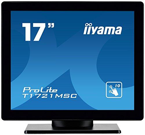 iiyama ProLite T1721MSC-B1 43cm (17 Zoll) LED-Monitor SXGA 10 Punkt Multitouch kapazitiv (VGA, DVI, USB für Touch, IP3) schwarz