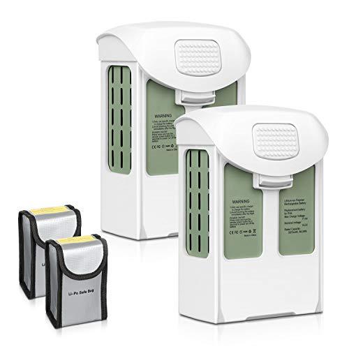 ENEGON Phantom 4 Serie Akku 2er Packung 15,2V 5870mAh Intelligenter Flug LiPo Ersatzbatterie + Schützende Aufbewahrungstasche für Batterie für DJI Phantom 4, P4 Pro, Pro Plus, Advanced, Pro V2.0