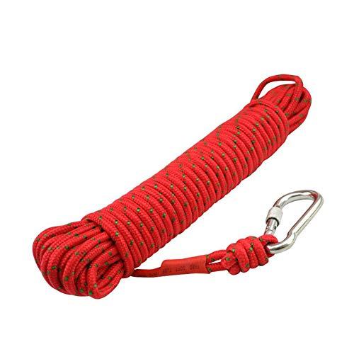 Corde d'escalade Corde d'escalade en plein air Sécurité incendie Corde de survie Escalade Sauvetage Corde d'escalade Corde auxiliaire d'escalade 10 mètres -50 mètres Pour envoyer un crochet en plein a