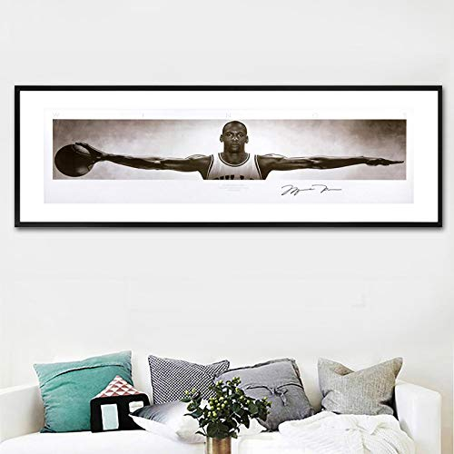 Wandkunst Leinwandbilder Für Wohnzimmer Wohnkultur michael jordan wings signiert poster drucken leinwand Malerei 50 * 150 cm -