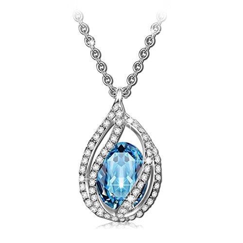 PAOLINE & Morgen Collana Moonlight per Donna realizzata con cristalli Swarovski, in confezione Regalo gioielli classici, Prova SGS superata in Nickel, 45 + 5cm, confezione Regalo