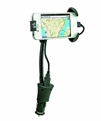 Sumex Carhld2 - Soporte Universal Usb Adaptable 'Pulse Mobile Pro' Para Smartphones Y Teléfonos Móviles (Con Cargador Usb, 12V Y Cable Microusb)