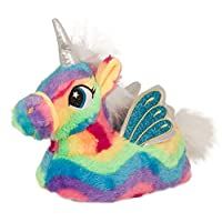 Lora Dora Womens Girls Novelty 3D Rainbow Unicorn Slippers Mini Me Adult + Kids Sizes