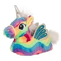 Lora Dora Womens Girls Novelty 3D Rainbow Unicorn Slippers Mini Me Adult + Kids Sizes