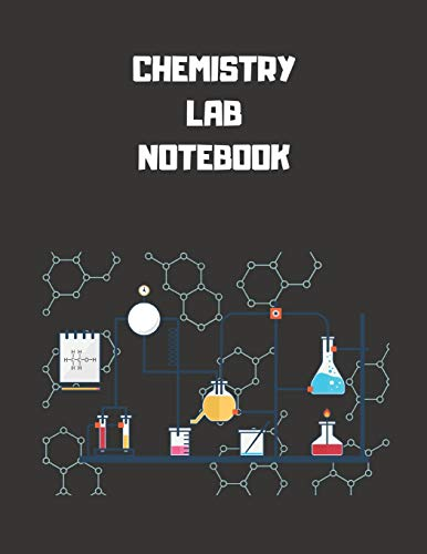 """Chemistry Lab Notebook: Each Page is Half College Ruled and Half 4"""" x 4"""" Grid Paper -120 Pages - 8.5"""" x 11"""" Pages - Lab Journal for Chemistry, Physics, Biology and Other Sciences"""
