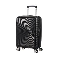 Idea Regalo - American Tourister Soundbox Spinner Espandibile Bagaglio A Mano, 55 cm, 35,5/41 L, 2,6 Kg, Nero (Bass Black)