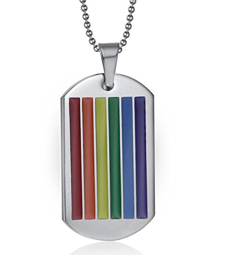 ssiker Homosexuell Flagge Regenbogen Hund Etikett Anhänger - LGBT Homosexuell und Lesben Stolz Halskette (Stolz-regenbogen)