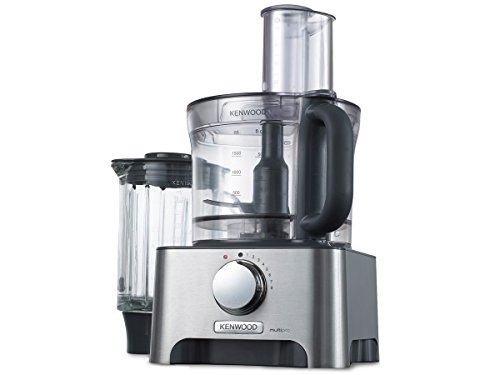 Kenwood MultiproClassic - Procesador de alimentos familiares, 1000 W, 3 litros, velocidad variable, color metal