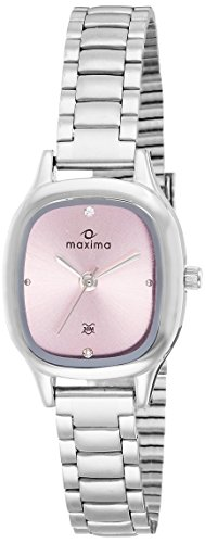 Maxima Analog Pink Dial Women's Watch - 39992CMLI