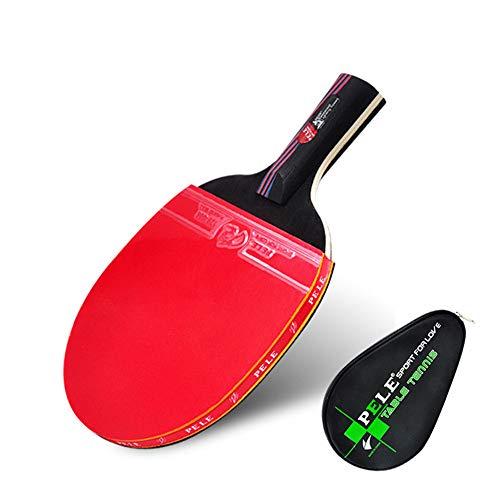 LINGKY Kohlefaser Tischtennisschläger, Professioneller Tischtennisschläger Und Etui