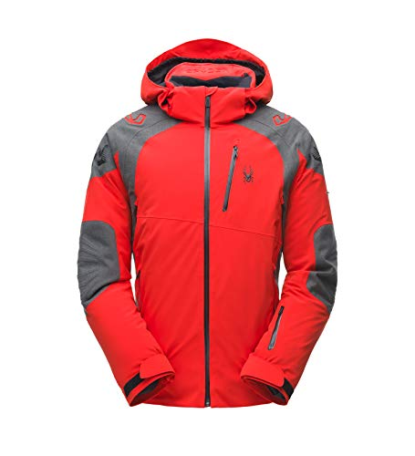 Spyder Mens Monterosa GTX Jacket Skijacke (Volcano/Wool-Blend-Twill/Black), L