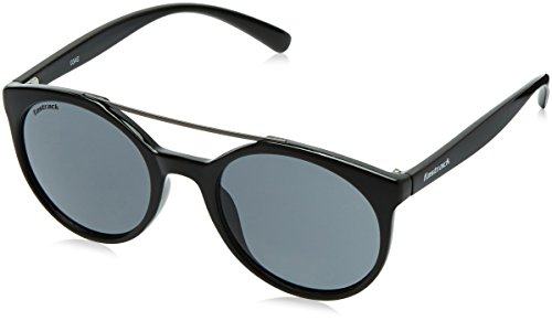 Fastrack UV Protected Round Women\'s Sunglasses - (C066BK3F|50|Smoke (Grey / Black) Color)