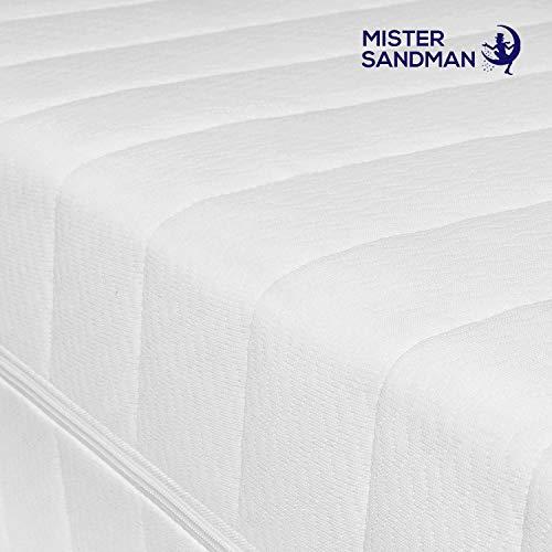 Mister Sandman punktelastische 7-Zonen-Kaltschaummatratze für erholsame Nächte – stabile Matratze mit hochwertigem Doppeltuchbezug, 2in1 Härtegrad H2&H3, Höhe 15cm, 140 x 200 cm H2&h3