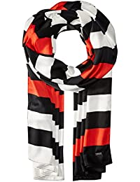 A|X Armani Exchange Women's Logo Stripe Scarf