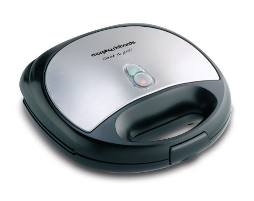 Morphy Richards New Toast and Grill Sandwich Maker (Silver and Black)