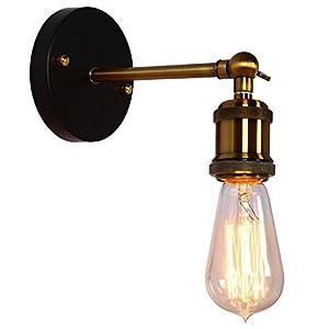 Coquimbo Lampade da parete retro Industriale Vintage Applique da parete a luce Regolabile E27 Base per casa, bar, ristoranti, caffè, club decorazione (senza lampadina)