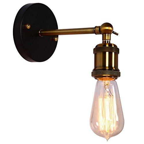 Coquimbo Rustikal Einstellbar Verstellbar Metall Wandlampe Industriell Wandleuchte Vorrichtung Lampe Haus Dekor ohne Birne (Schwarz) (style 5) (Rustikale Kerze Wandlampen)
