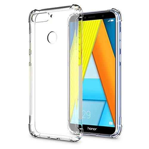 TBOC Hülle für Huawei Honor 7A [5.7 Zoll] - Cover [Transparent] Komplett [Silikon TPU] Full Body [360 Grad] Schutzhülle Vorder Hinten Seite Ultra Dünn Handy Tasche Anti Fingerabdruck Kratzer