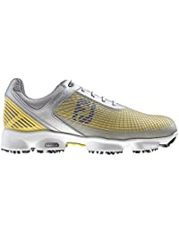 Footjoy HyperFlex - Zapatos para hombre, color negro/plata/amarillo, talla 42