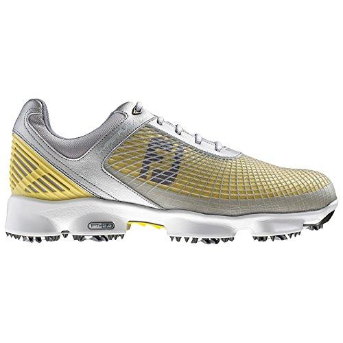 FootJoy Mens Hyperflex Waterproof Golf Shoes (Silver / Yellow / White - 51006) (8.5 UK (Medium Fit))