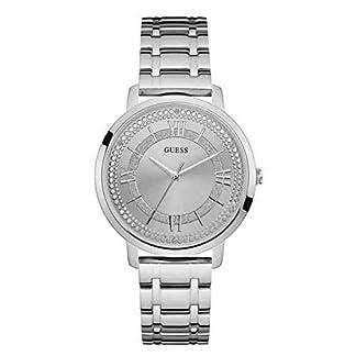 Guess Reloj Analógico para Mujer de Cuarzo con Correa en Acero Inoxidable W0933L1