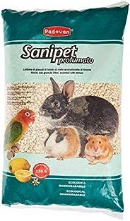 Sanipet Profumato - Lettiera di granuli di tutolo di mais aromatizzata al limone per piccoli animali - 4 Lt