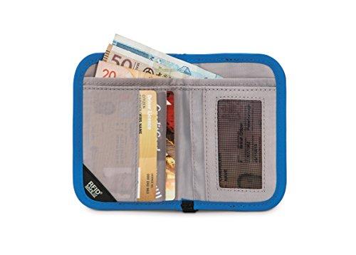 Pacsafe RFIDsafe V50 - kompakter Geldbeutel blau