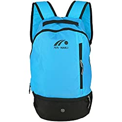 Mochila de Fútbol, 2 Colores Multifuctional Football Shoulders Bag Soccer Ball Backpack para Deportes al Aire Libre(Blue)