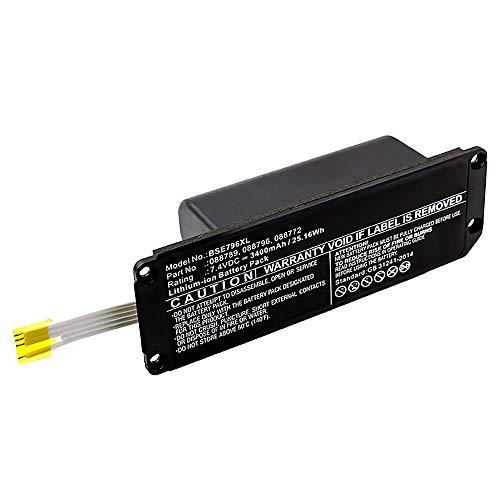 subtel® Qualitäts Akku kompatibel mit Bose Soundlink Mini 2-088772, 088789, 088796 (3400mAh) Ersatzakku Batterie