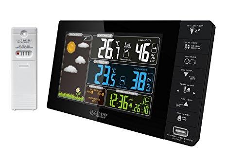 La Crosse Technology WS6827-BLA - Estación meteorológica con Pantalla Colores, Interfaz en francés...