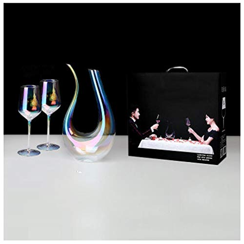 Classic Rot Weindekanter Dekanter Wein karaffe | 1500ML Hochwertig Dekantier | Harmony Kollektion | Dekantierer Glaskaraffe Dekantierkaraffe | Perfekt für zu Hause, Restaurants und Partys
