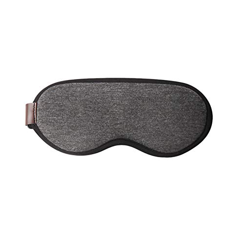 xMxDESiZ Temperature Control Heat Steam Cotton 3D Eye Mask Care Dry Tired Compress Pad Grey