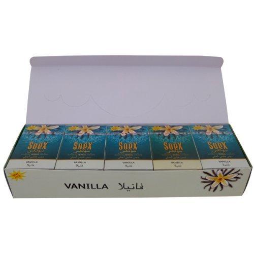 Vanilla Flavor SOEX Hookah Shisha Authentic Herbal Molasses Full Sealed Box 10 Packs x 50g - Total 500gr by SOEX
