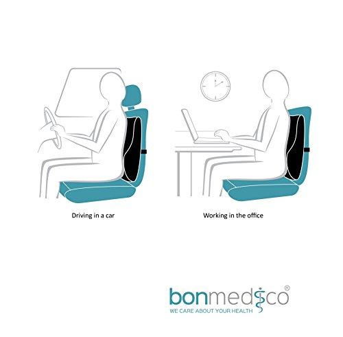 bonmedico® Orthopädisches Rücken-Kissen, Lordosenstütze Für Das Auto Oder Office, In Schwarz/ Black - 6