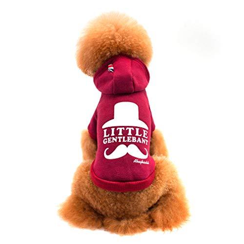 Selling Haustierkleidung, Hundebekleidung, Kapuzenpullover, Grau, Weinrot,Red,XL