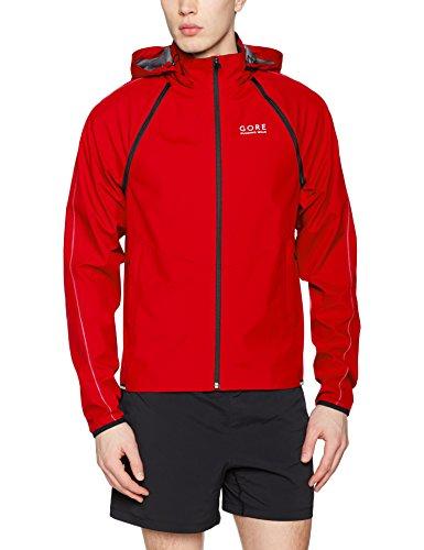 Gore Running Wear Herren Essential Windstopper Zip-Off Jacke, Rot, M