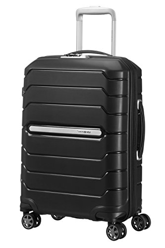 samsonite flux spinner bagaglio a mano 55 cm, 44 l, nero (black)