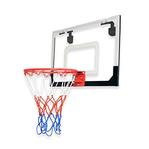 Kinder Tragbare Basketballkorb Transparent Basketball Rahmen hängend Backboard Indoor Kinder hängend Basketball-Rack Indoor und Outdoor Fun (Farbe : Black, Size : One Size)